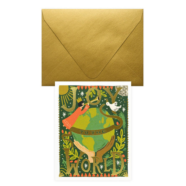 Rifle Paper Co. Joy To The World Christmas Cards Boxed - GREER Chicago Online Stationery Shop