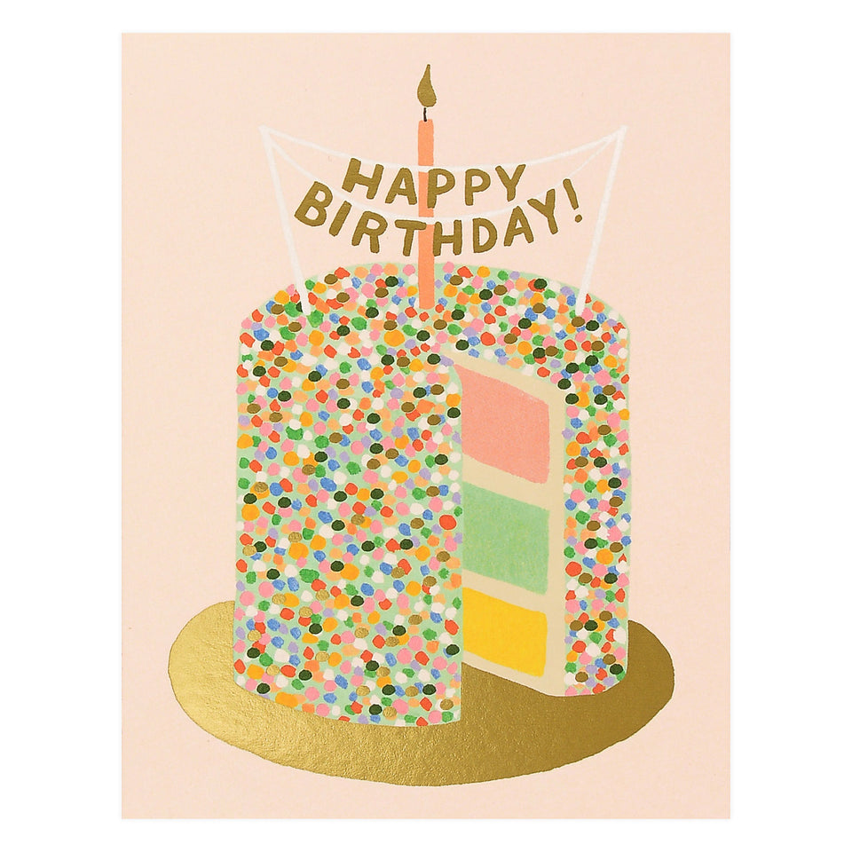 Illustrated Greeting Card Colorful Birthday Birthday Cake Card Happy Birthday Card Birthday Candles
