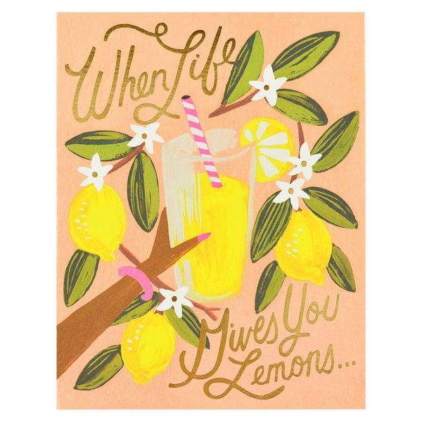 Rifle Paper Co. Life Gives You Lemons Greeting Card - GREER Chicago Online Stationery Shop