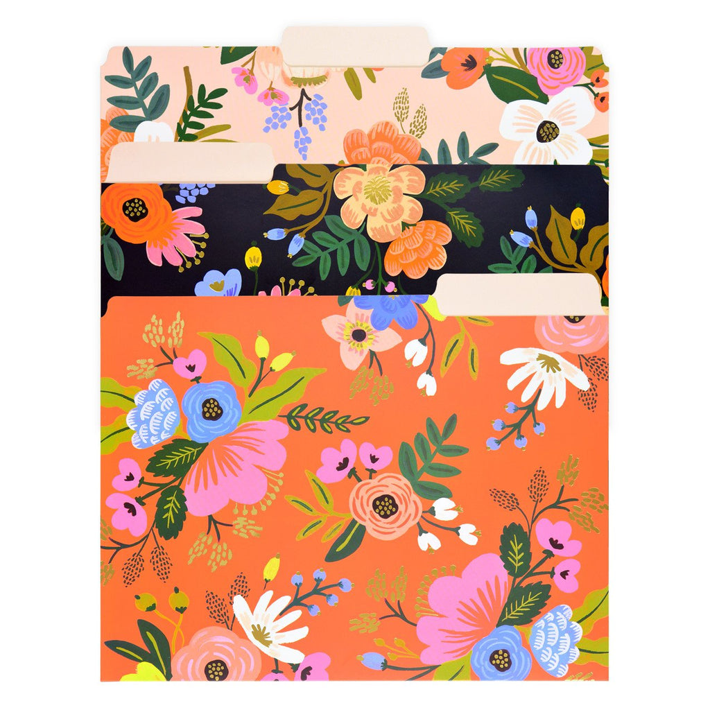 Lively Floral Assorted File Folders - GREER Chicago Online Stationery