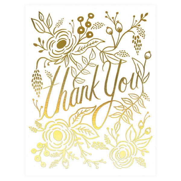 Rifle Paper Co. Marion Folded Thank You Cards Boxed - GREER Chicago Online Stationery Shop