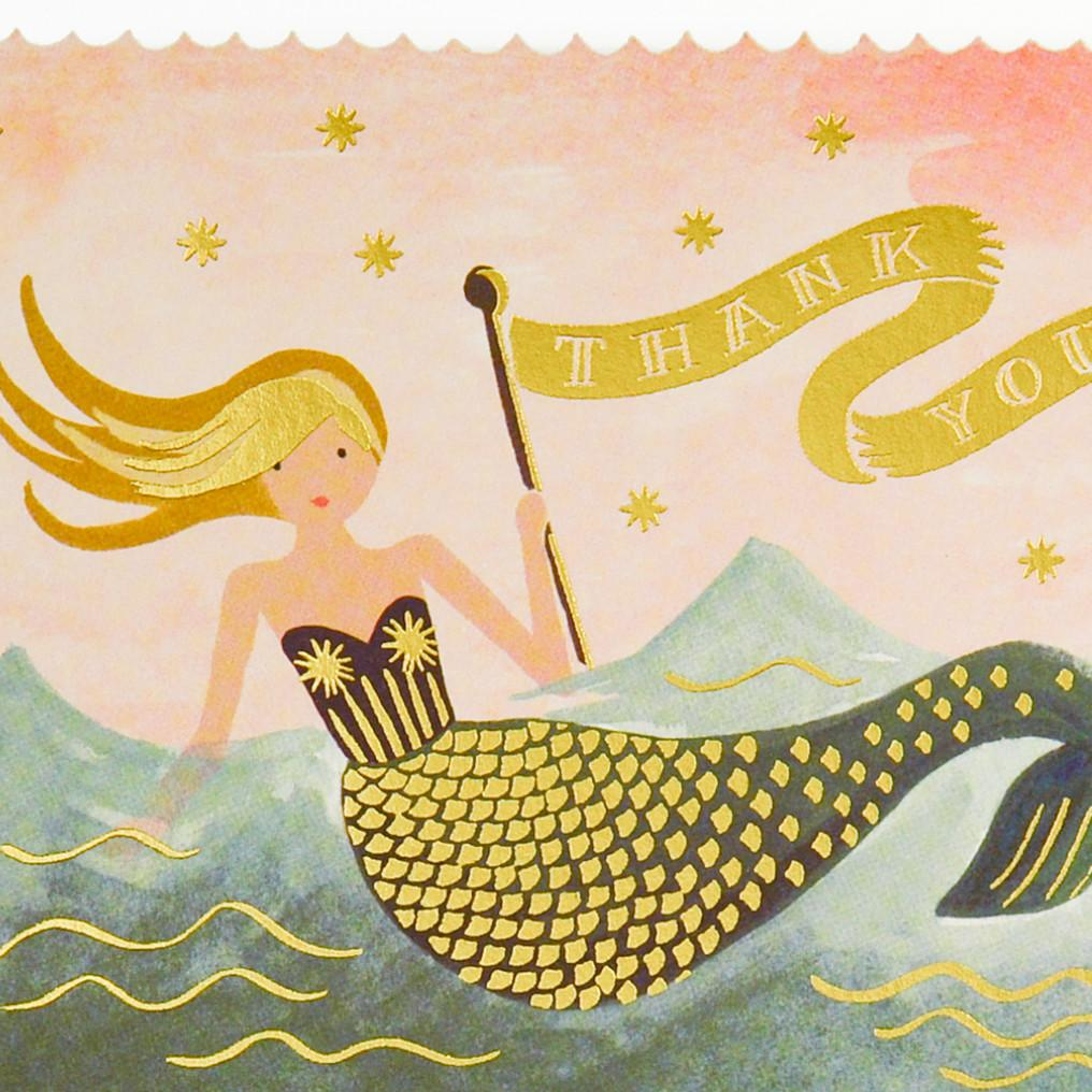 Mermaid Folded Thank You Cards Boxed