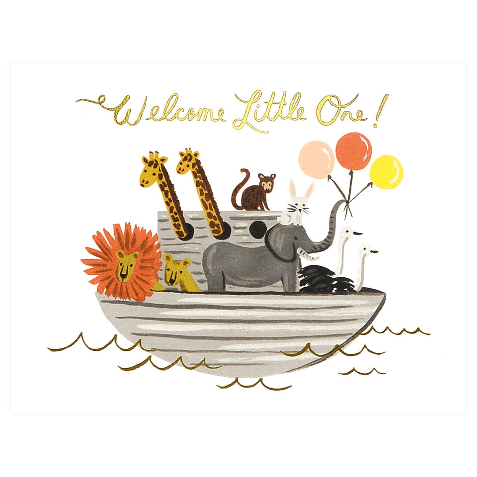 Rifle Paper Co. Noah's Ark New Baby Card