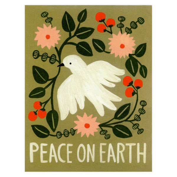 Peace On Earth Dove Boxed Holiday Cards By Rifle Paper Co.
