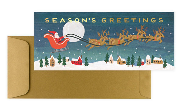 Santa's Sleigh Boxed Christmas Cards By Rifle Paper Co. - 1