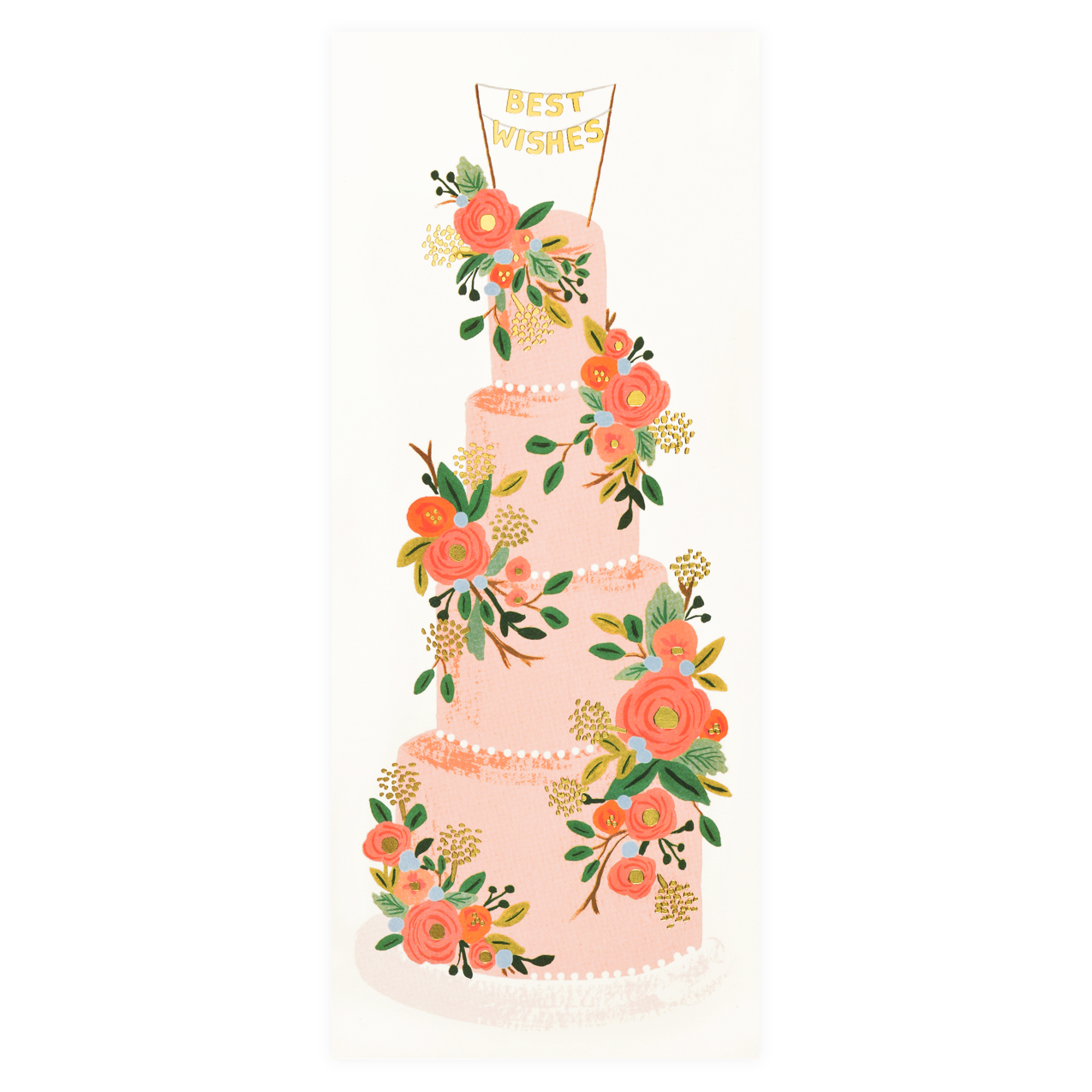 Tall Wedding Cake Greeting Card