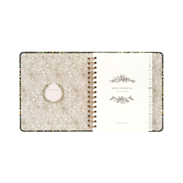 Rifle Paper Co. 2018 Tapestry 17-Month Covered Spiral Planner - GREER Chicago Online Stationery Shop