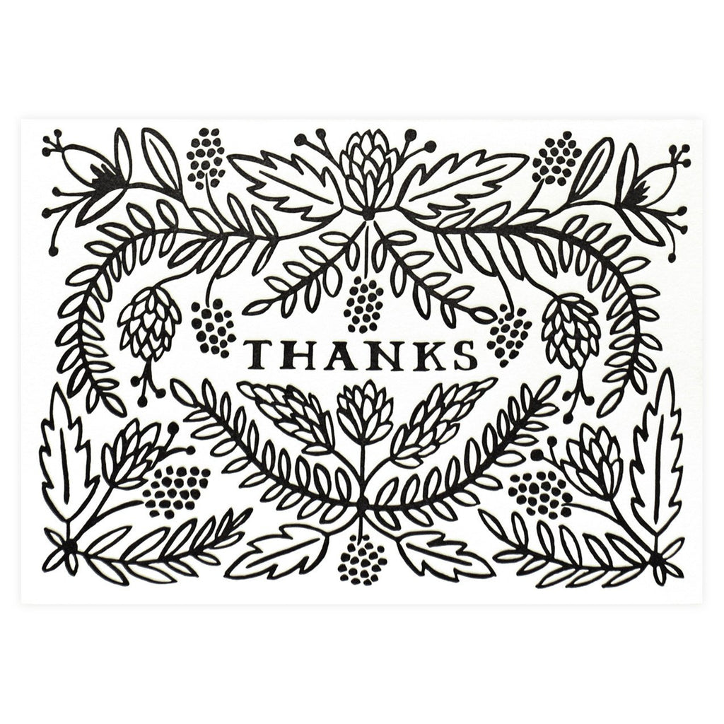 Thanks Folded Thank You Card By Rifle Paper Co.