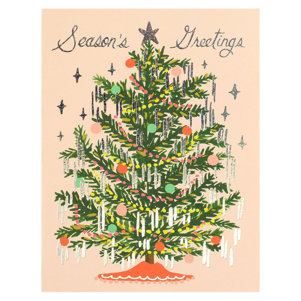 Rifle Paper Co. Tinsel Tree Christmas Cards Boxed