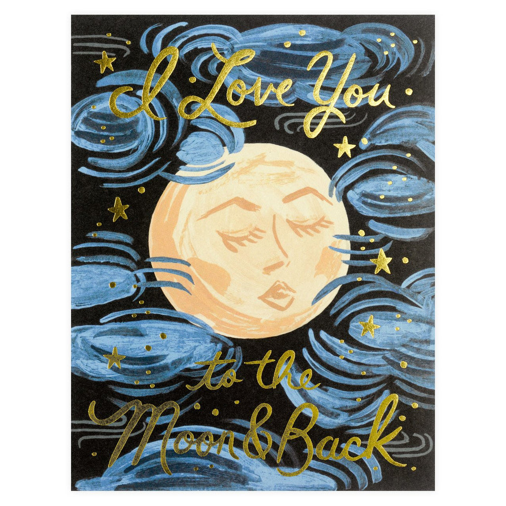 To The Moon And Back Greeting Card By Rifle Paper Co. - 1