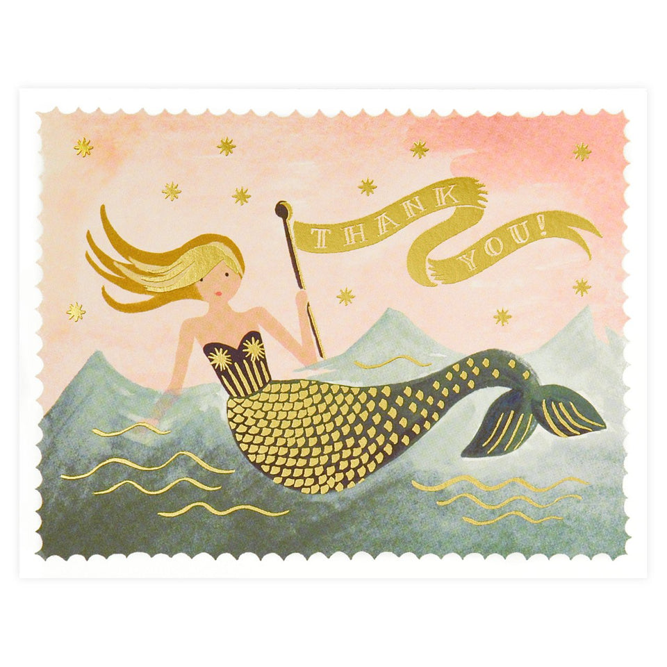 Rifle Paper Co. Mermaid Folded Thank You Cards Boxed