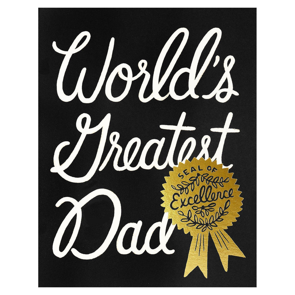 Rifle Paper Co. World's Greatest Dad Father's Day Card