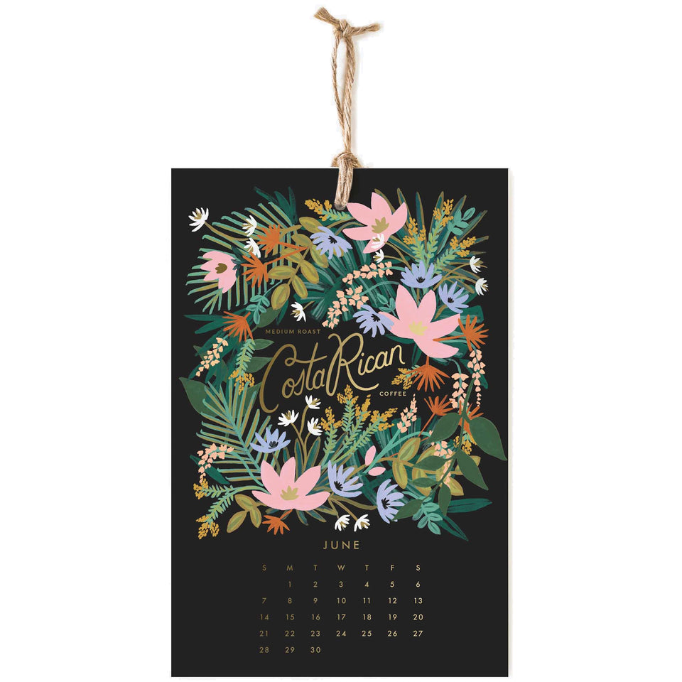 Rifle Paper Co. 2020 Coffee & Tea Wall Calendar