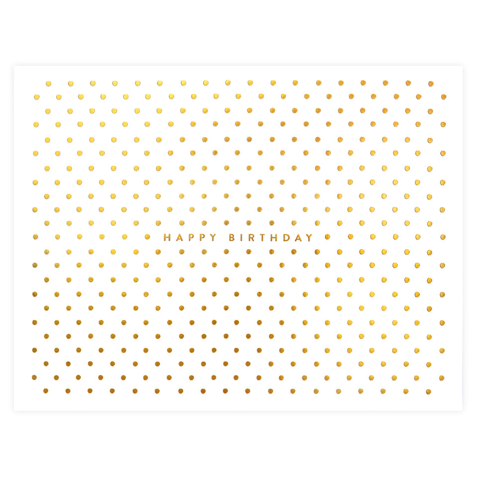 Rifle Paper Co. Gold Dot Birthday Card