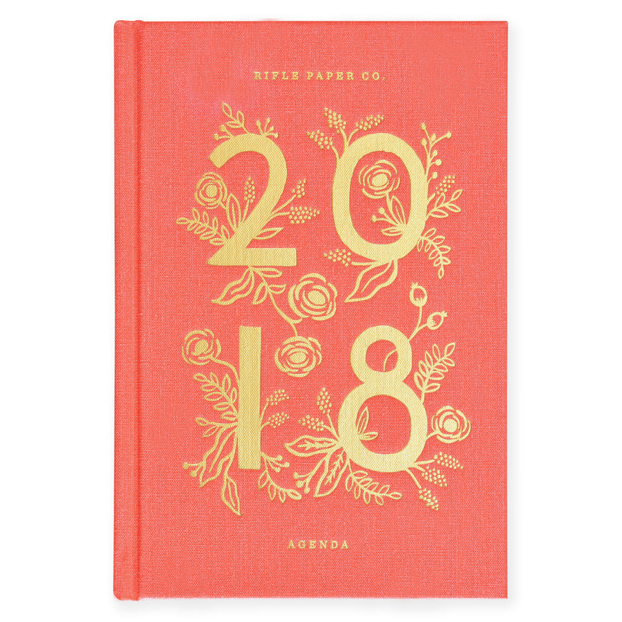 Rifle Paper Co. 2018 Coral or Icon Hardcover Agenda - GREER Chicago Online Stationery Shop