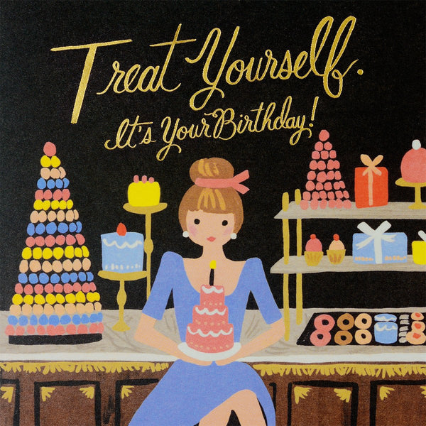 Treat Yourself Birthday Card - GREER Chicago Online Stationery