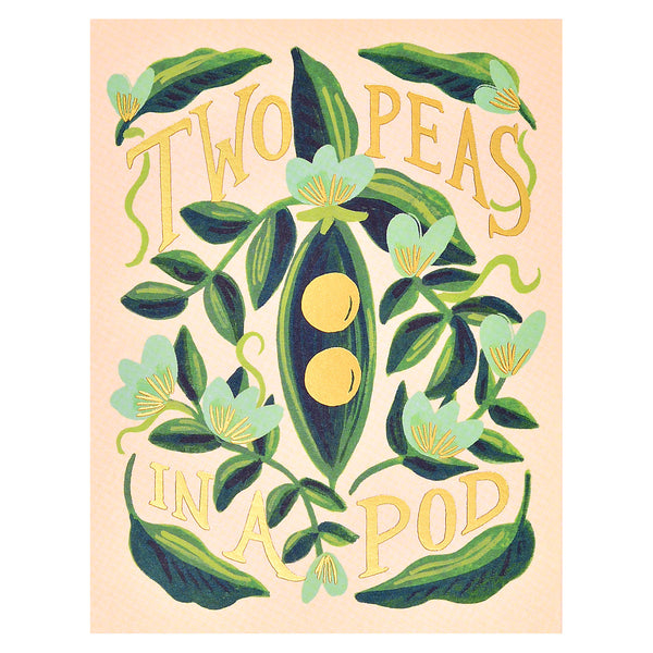 Rifle Paper Co. Two Peas in a Pod Greeting Card - GREER Chicago Online Stationery Shop