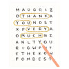Rifle Paper Co. Word Search Folded Thank You Cards Boxed - GREER Chicago Online Stationery Shop