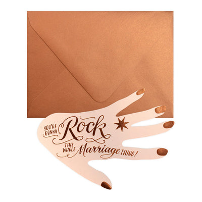 Ladyfingers Letterpress You're Gonna Rock This Marriage Thing Engagement Card - GREER Chicago Online Stationery Shop