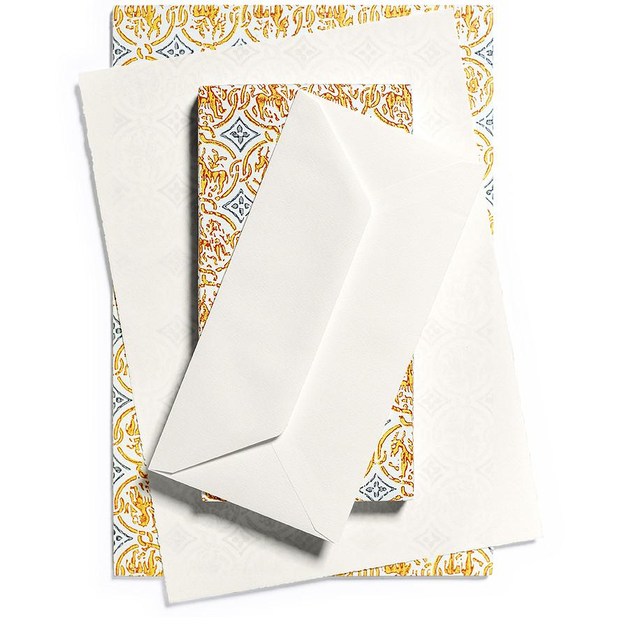 Medioevalis Envelope For Deckle Sheet Pad Ivory By Rossi - 2