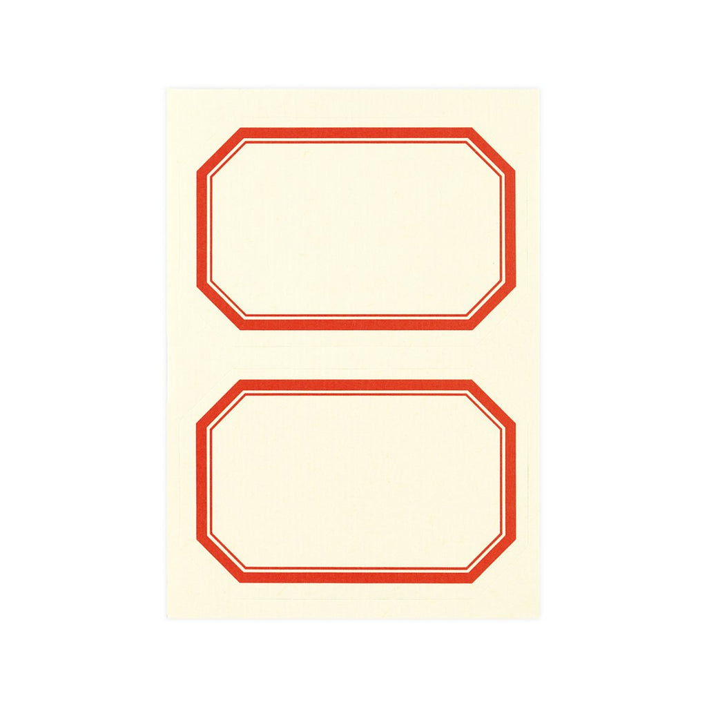 "Rossi Frame Adhesive Labels 3"" x 2"" Set of Six - GREER Chicago Online Stationery Shop"