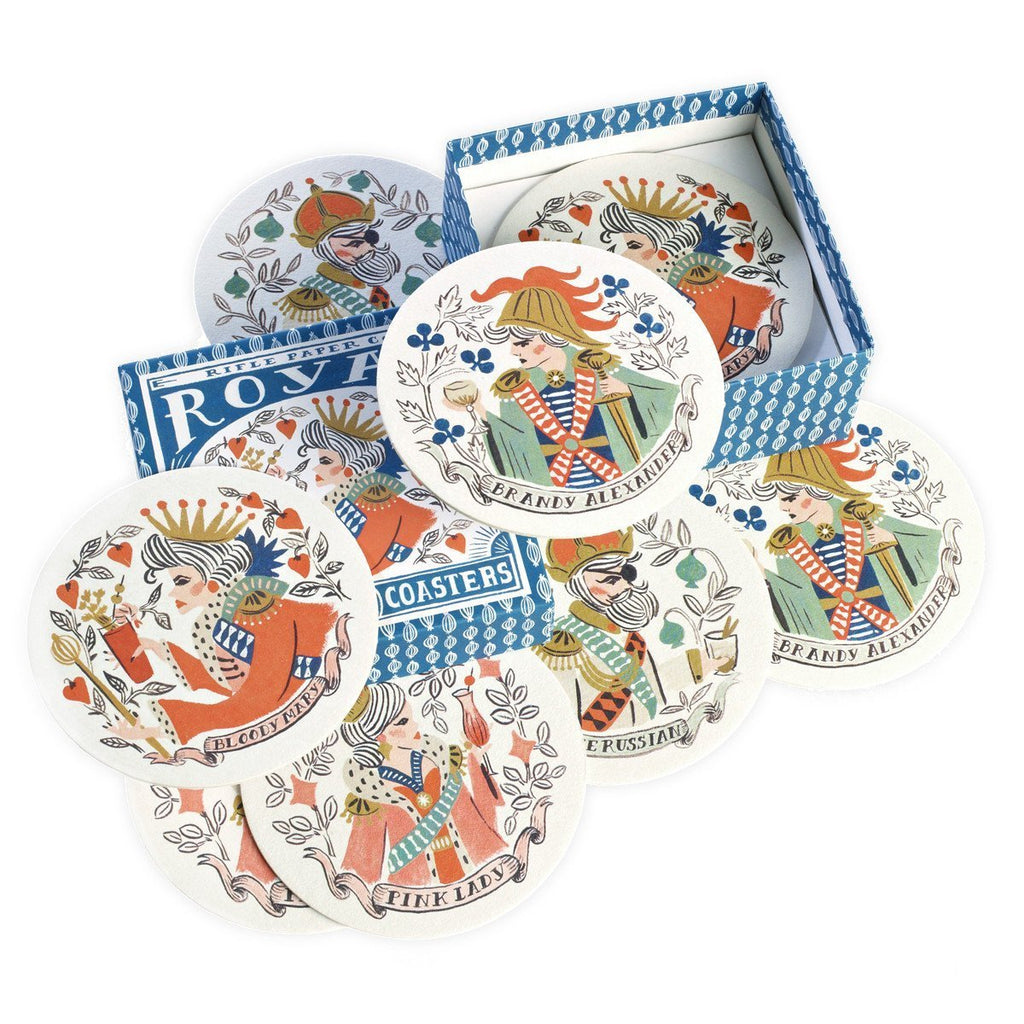 Royal Cocktail Coaster Set - GREER Chicago Online Stationery