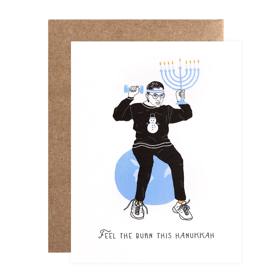 Party Of One Paper Ruth Bader Ginsburg Hanukkah Cards Boxed or Single