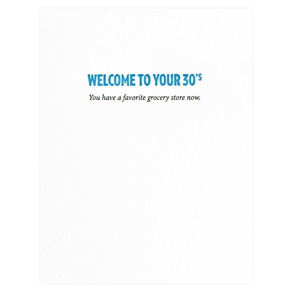 Sapling Press 30's Grocery Store Birthday Card