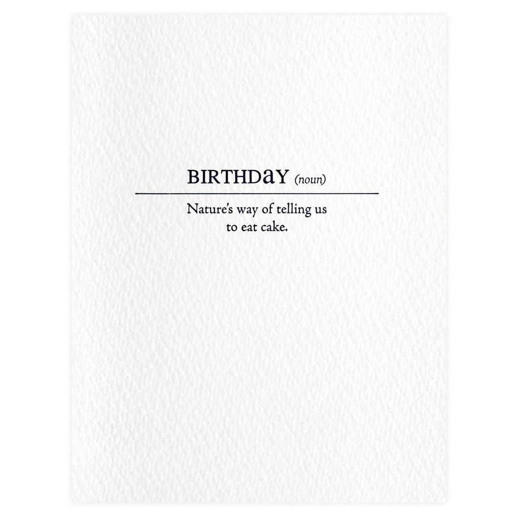 Birthday Definition Card - GREER Chicago Online Stationery