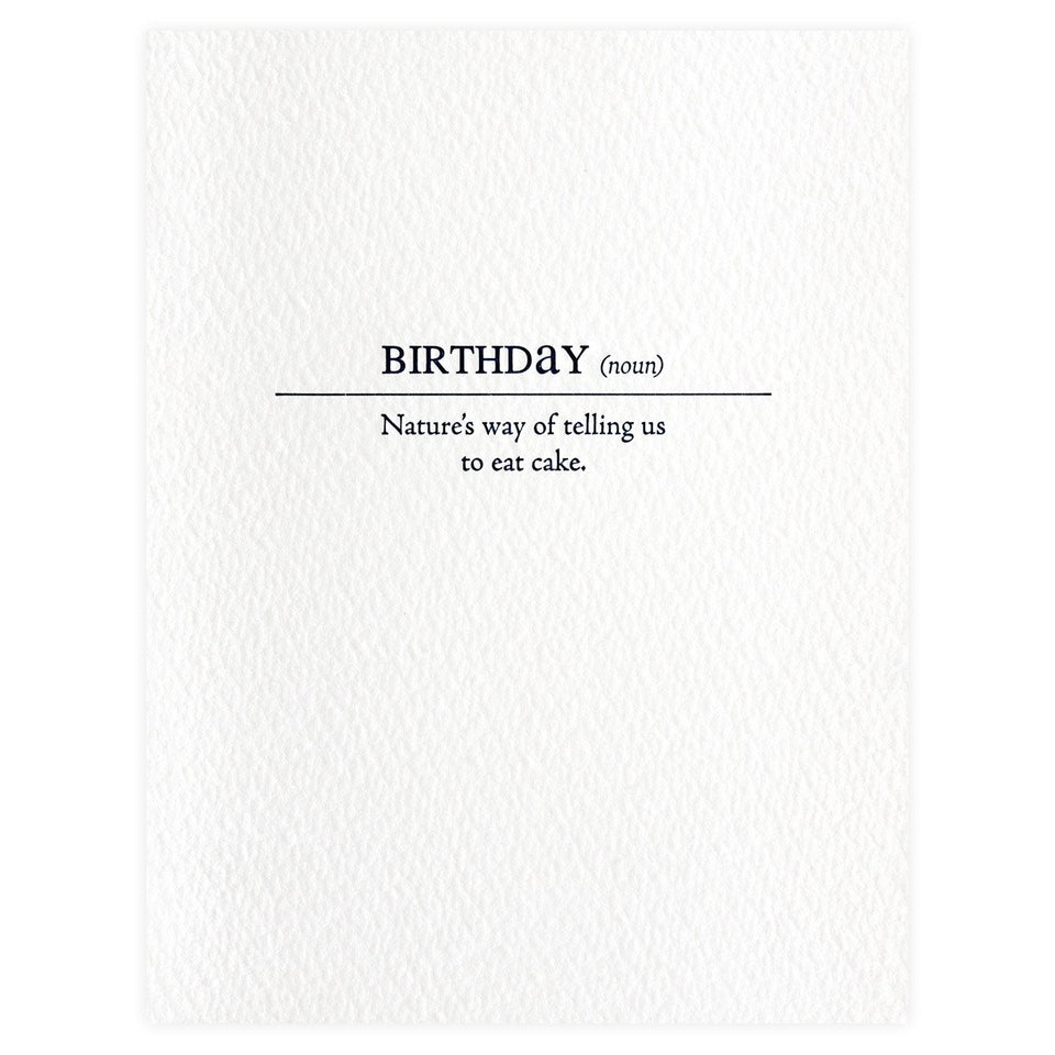 Sapling Press Birthday Definition Card
