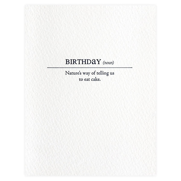 Birthday Definition Card By Sapling Press