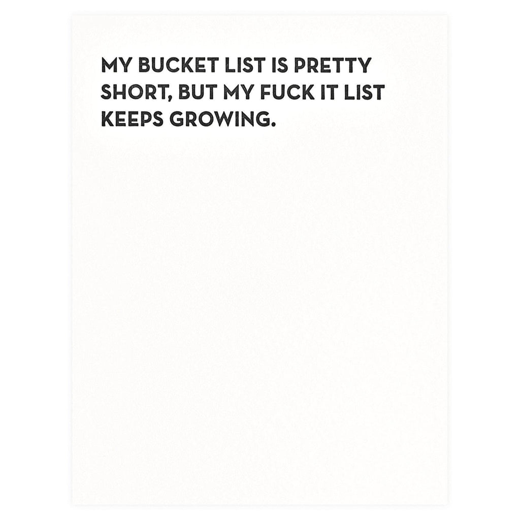 Sapling Press Bucket List Greeting Card