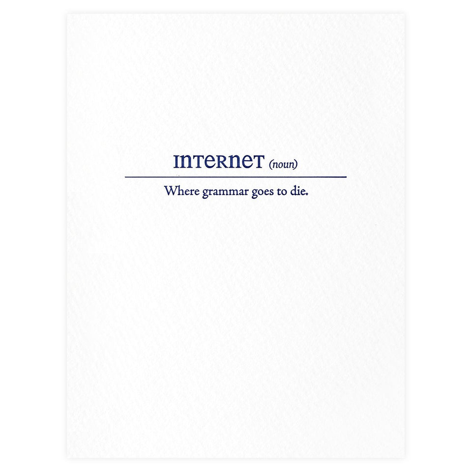Sapling Press Internet Definition Greeting Card