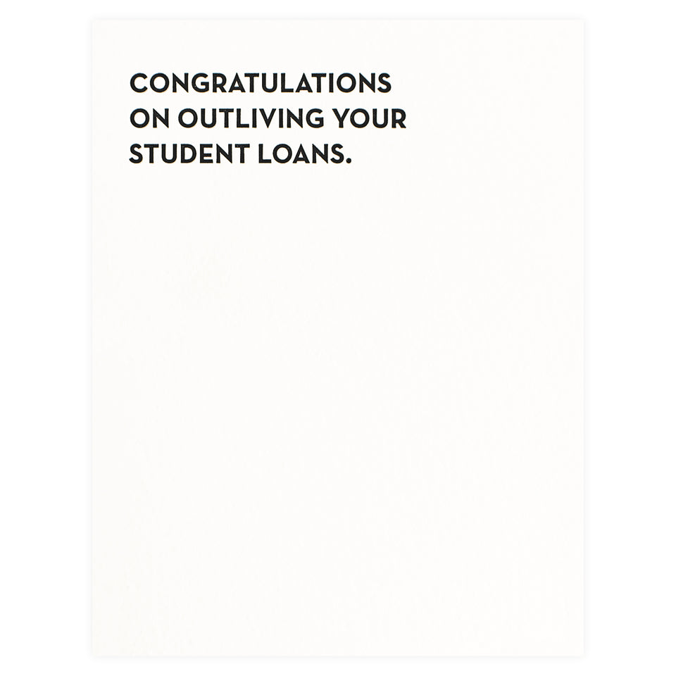 Sapling Press Student Loans Birthday Card