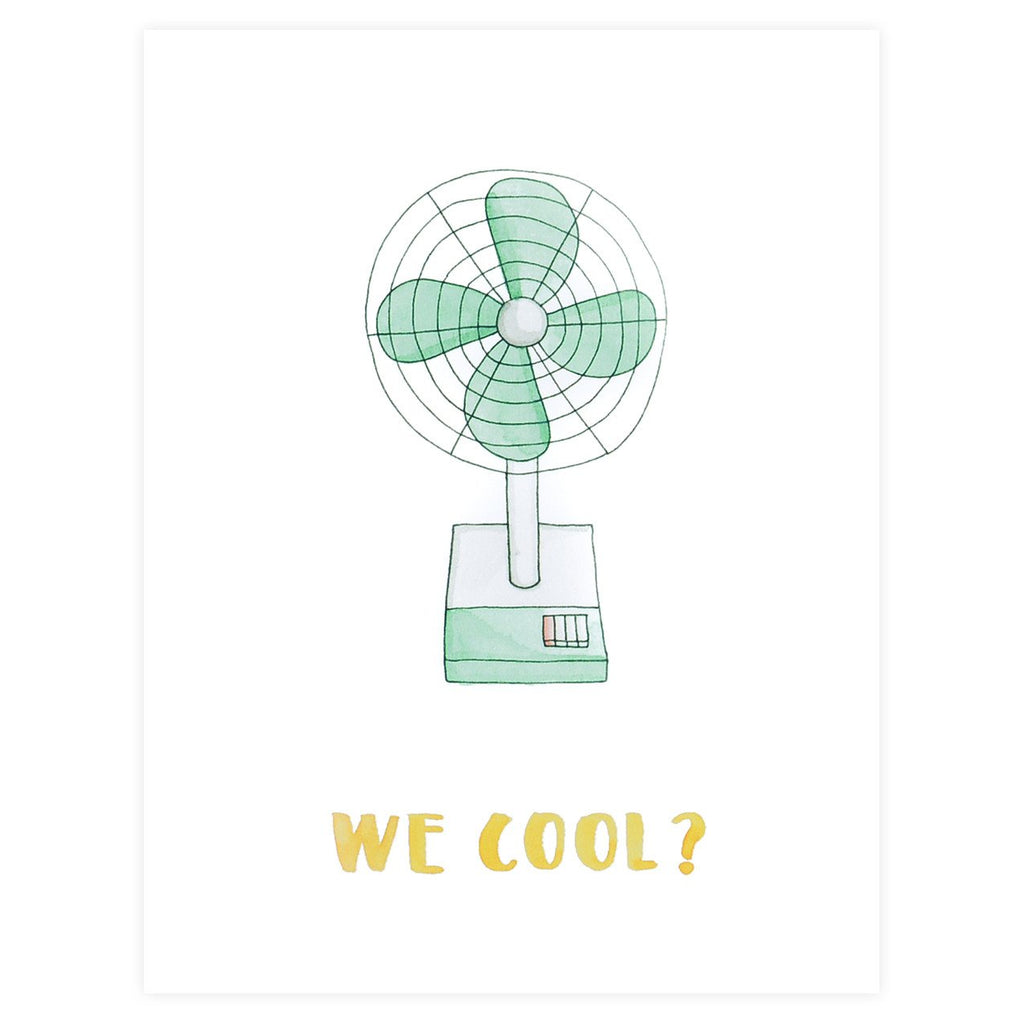 Say Something Cards Retro Fan We Cool Greeting Card