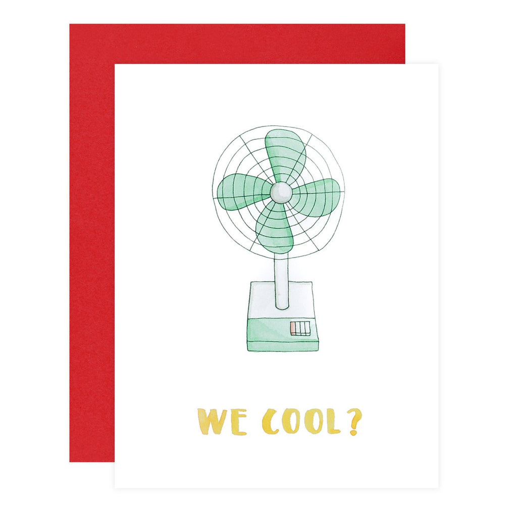 Retro Fan We Cool Greeting Card