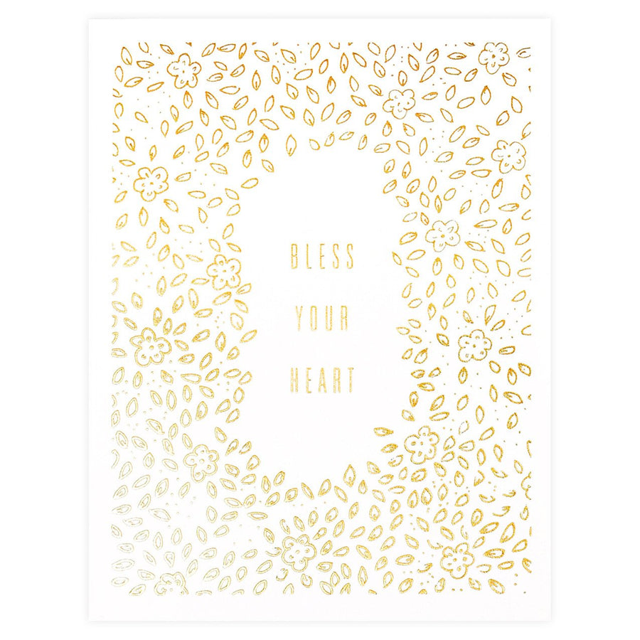 Scarlet & Gold Bless Your Heart Greeting Card - GREER Chicago Online Stationery Shop