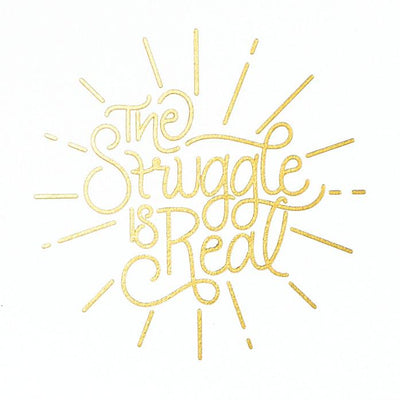 Scarlet & Gold The Struggle Is Real Greeting Card
