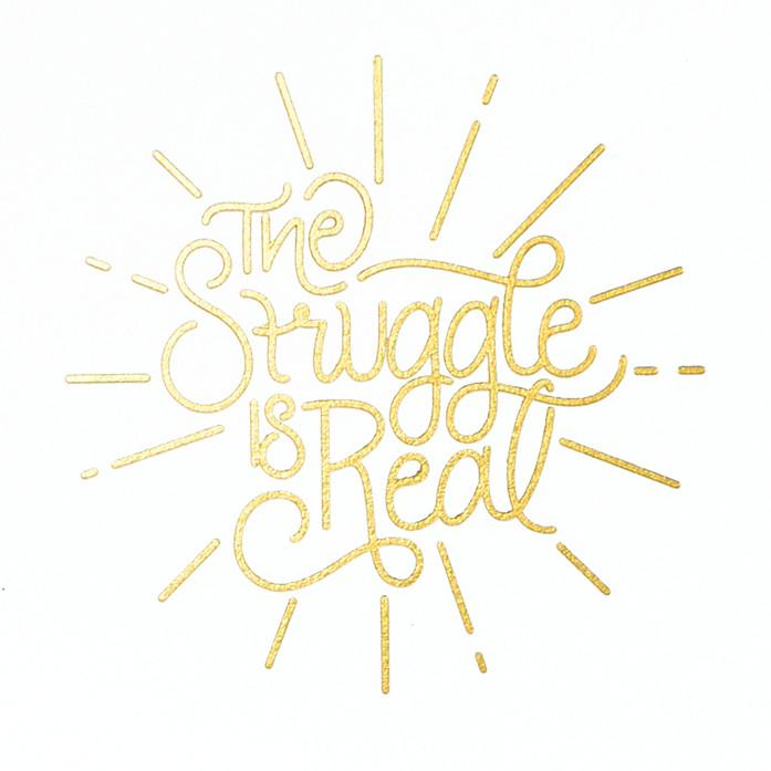 Scarlet & Gold The Struggle Is Real Greeting Card - GREER Chicago Online Stationery Shop