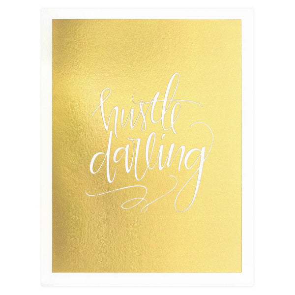 Scarlet & Gold Hustle Darling Greeting Card - GREER Chicago Online Stationery Shop