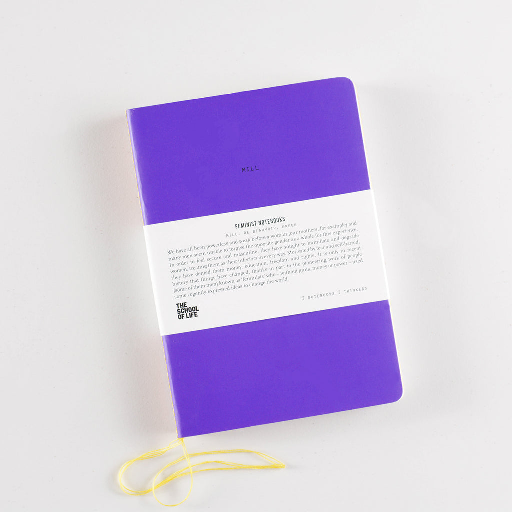 The School of Life The Feminists Notebooks Set of 3