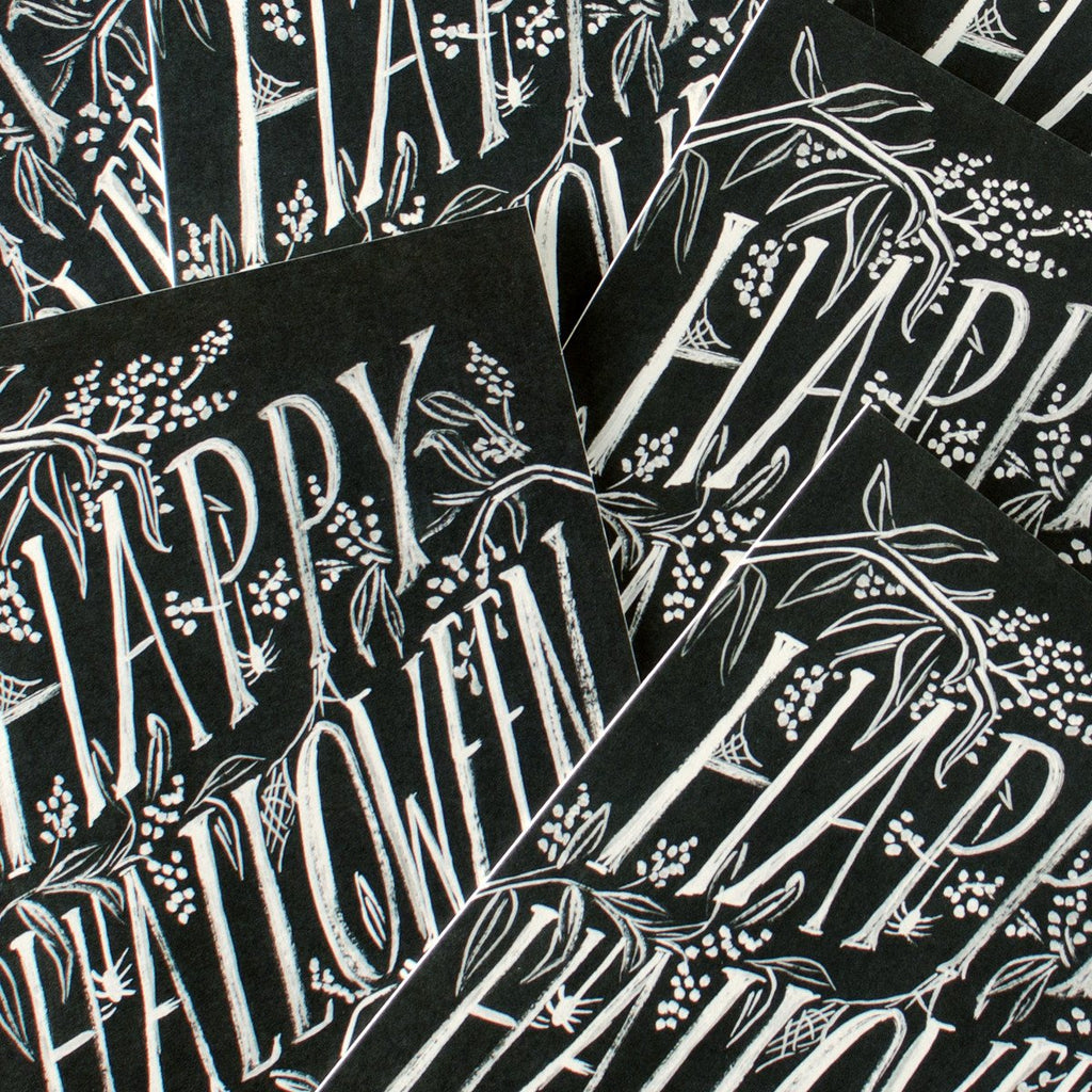 Scratchy Halloween Single Card or Box of Eight By Rifle Paper Co. - 2