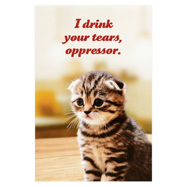 Social Justice Kittens Drink Your Tears Postcard By Sean Tejaratchi
