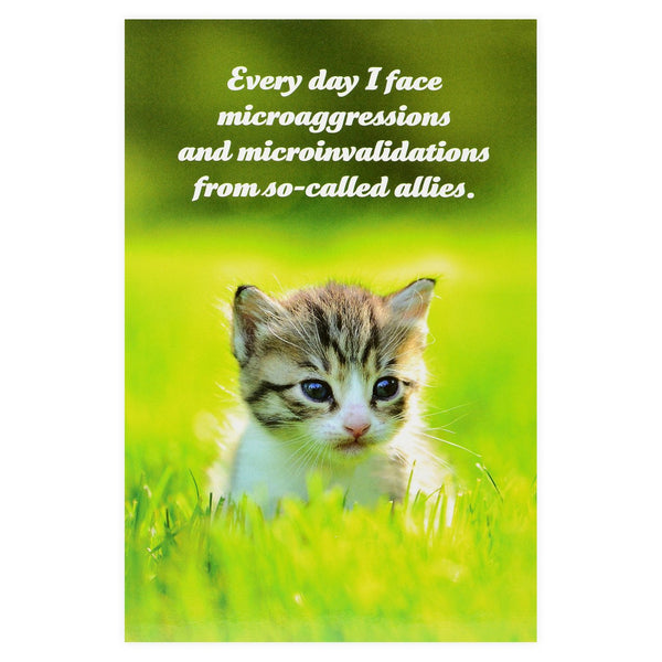 Social Justice Kittens Microagressions Postcard - GREER Chicago Online Stationery