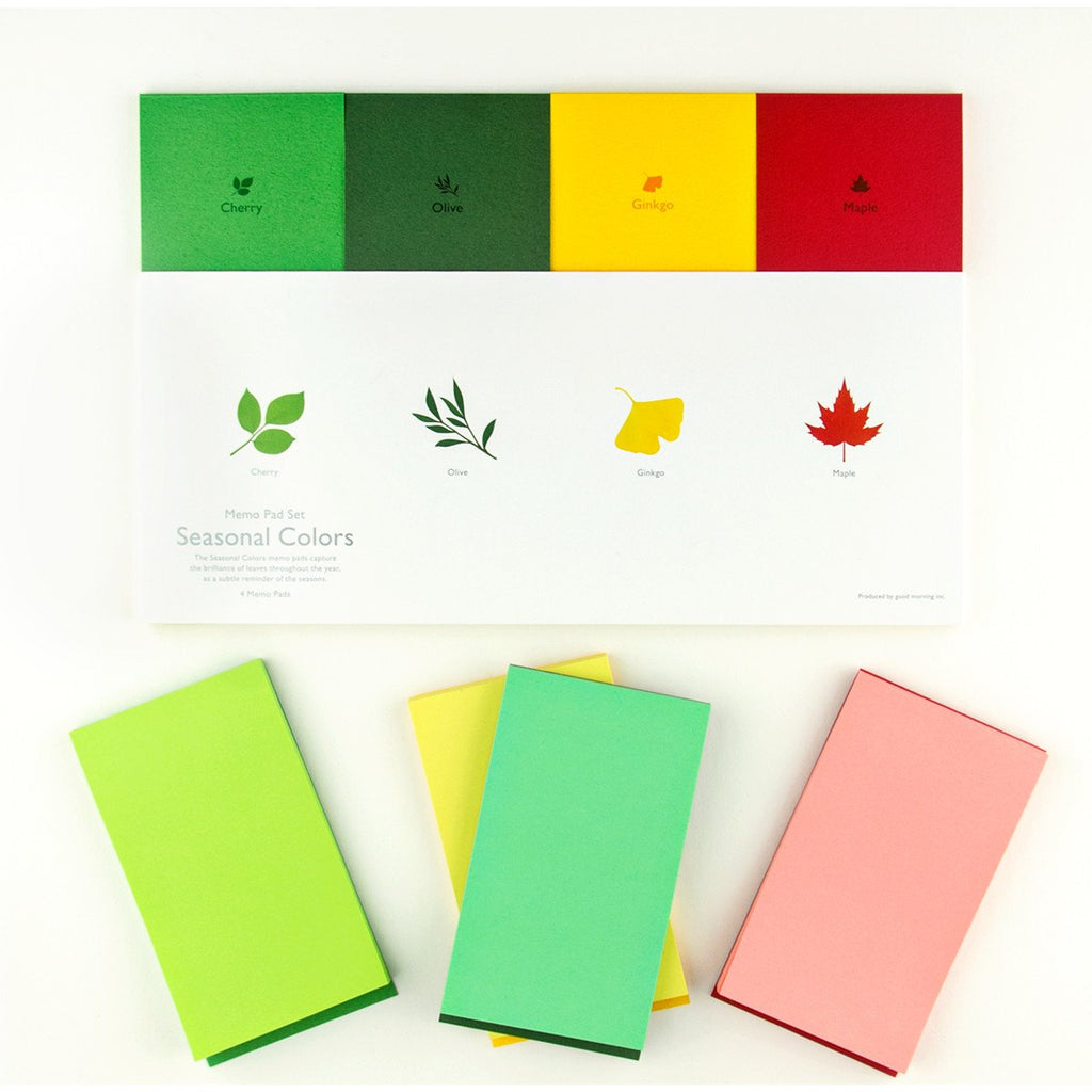 Seasonal Colors Memo Pad Set By Good Morning - 1