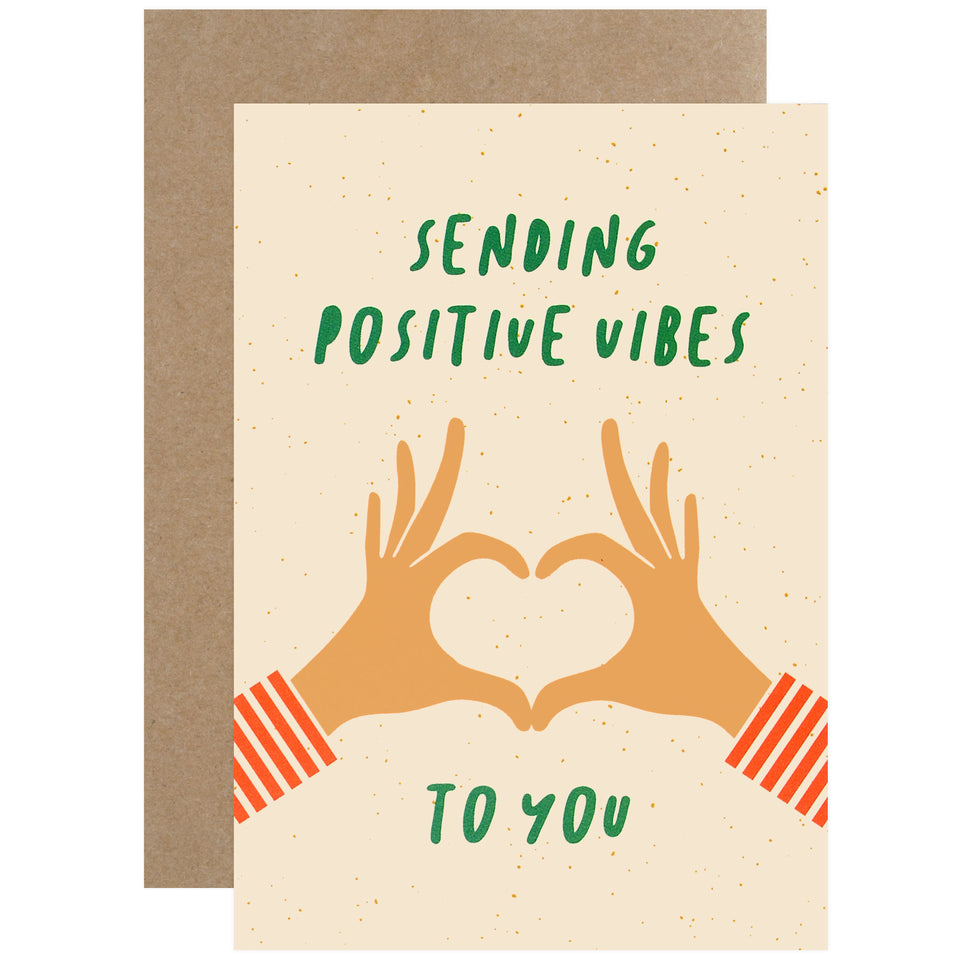 Graphic Factory Sending Positive Vibes To You Greeting Card