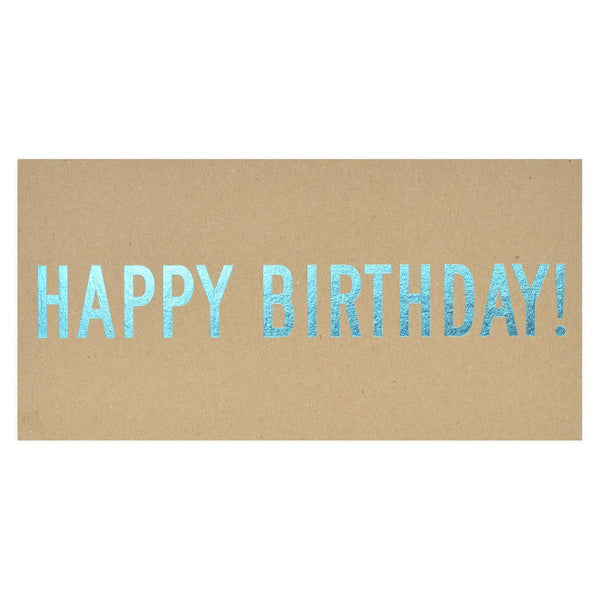 Set Editions Happy Birthday Chipboard Postcard - GREER Chicago Online Stationery Shop