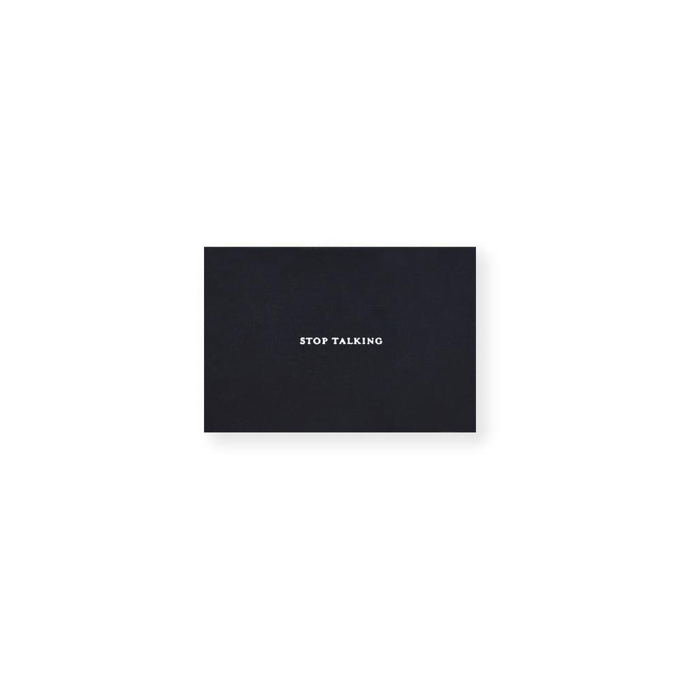 Set Editions Stop Talking Calling Cards