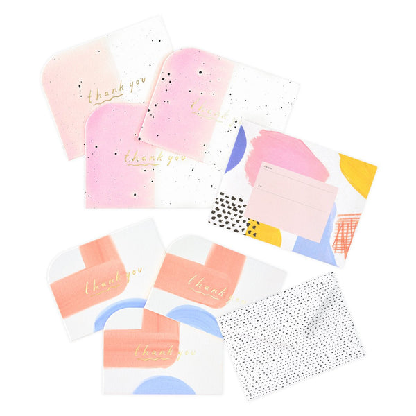 Shape Set Color Flat Thank You Cards Boxed