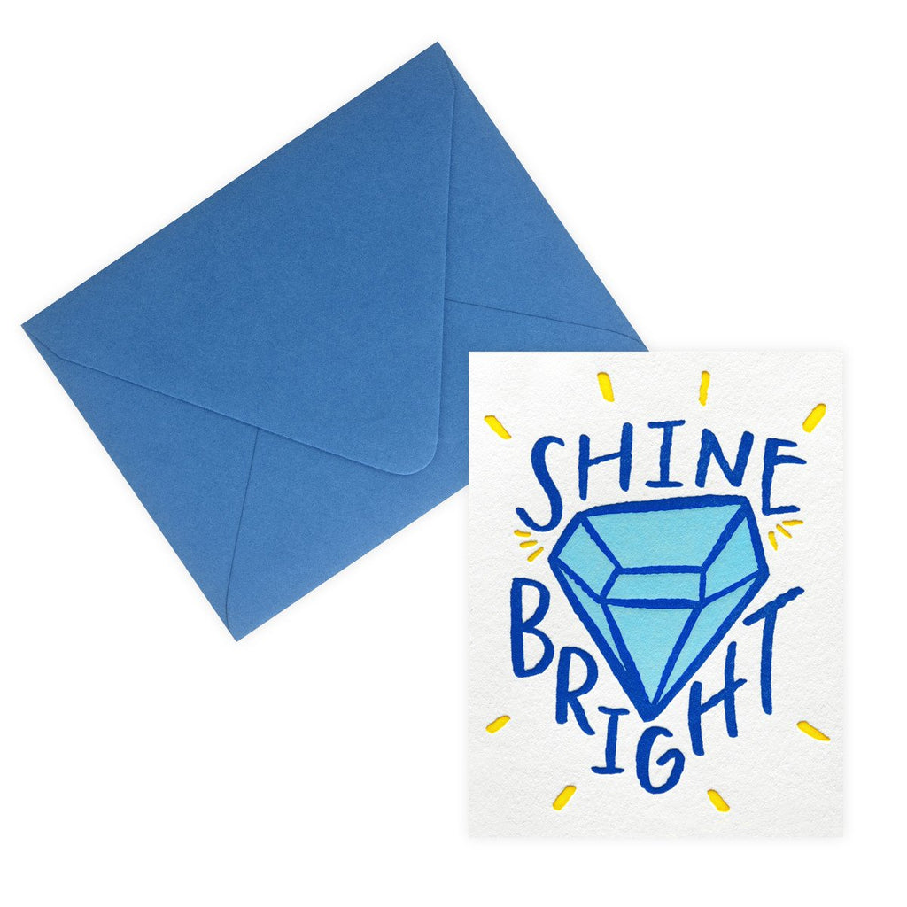 Shine Bright Congratulations Card By Bench Pressed - 2